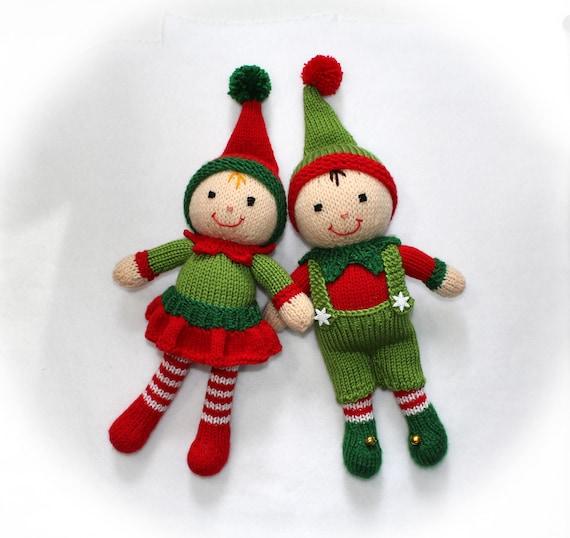 Xmas Knitting Patterns Uk : Christmas elf toy knitting pattern santa s helpers