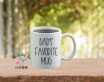 Dad's favorite mug, dad mug, mugs for men, dad gift, fisherman gift