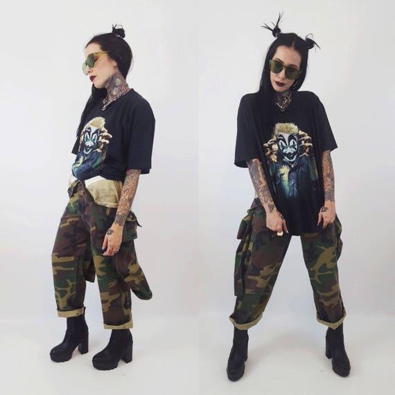 90's Insane Clown Posse T-shirt ICP Shirt Large - Distressed Hip Hop Juggalo Tee - Alternative Clown Gang ICP Shirt Front & Back Print