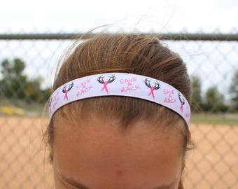 Breast Cancer Awareness Headband Women - Breast Cancer Gifts Headbands for Women - Choice of Size & Design - Breast Cancer Headband Girls