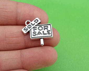 4 Sold For Sale Real Estate Silver Charms
