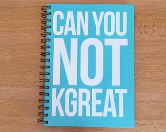 Notebook | Can You Not KGreat Snarky blank wirebound spiral hard cover sketchbook diary journal