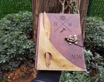 Journal, Leather Journal, Personalized Journal, Engraved Journal, Notebook, Personalized Diary, Custom Engraved Leather Journal