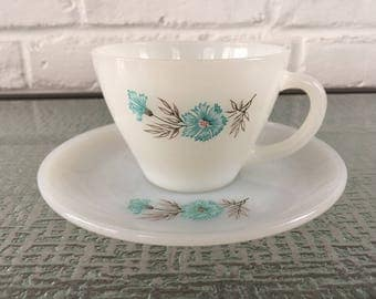 Fire King Butonniere Cup and Saucer Sets