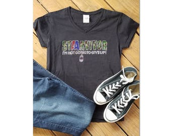 Bling STAARvivor shirt ~ rhinestone heat transfer ~ teacher shirt ~ STAAR test ~ Texas teacher