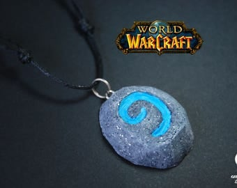 Hearthstone pendant | World of Warcraft | Hearthstone wow | Wow necklace | Gamer jewellery | Gamer accessories | Wow pendant |Gamer necklace