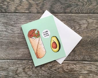 Sorry For Being So Extra Avocado Greeting Card