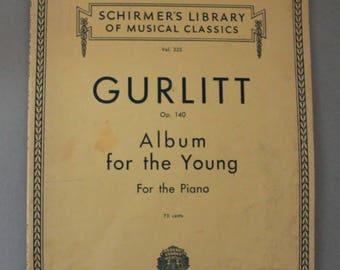 Gurlitt Piano Sheet Music Album 1939