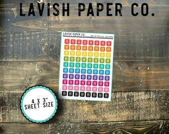 Teeny Tinies Weight Loss Program Icon Planner Stickers by Lavish Paper Co. for Erin Condren, TN Planners, Happy Planner