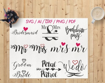 Wedding svg / Bride groom svg / Bride svg cut file / Sedding cricut svg / Bridesmaid svg / Bride svg / Wedding svg file
