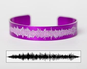 Custom Sound Wave Bracelet - Baby's Heartbeat Bracelet - Music Gift - Engraved Bracelet - Heartbeat Jewelry - Music Soundwave Jewelry