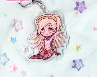 Mercy Glitter Keychain