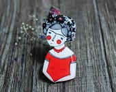 Frida Kahlo pin brooch feminist pin badge nasty woman Feminist jewelry feminist gift girl power mexico jewelry gift for artist mexico pin