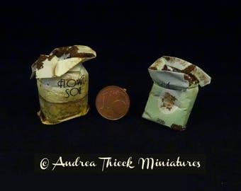 Miniature Sacs of Soil - 1-12 scale
