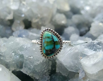 Turquoise Ring, Silver Ring, Mothers Day Gift, Engagement Ring, Gift For Her, Gift For Women, Boho, Stacking Rings, Birthstone Ring, Ring
