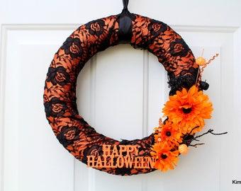 Halloween Wreath - Fall Wreath - Door Wreath - Front Door Wreath - Wreath - Front Door Decor - Fall Door Decor - Wreaths - Door Decor