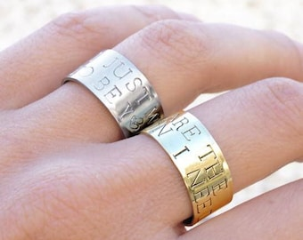 Large customizable message - brass ring