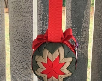 Flightsuit Quilted Christmas Ornament- Red
