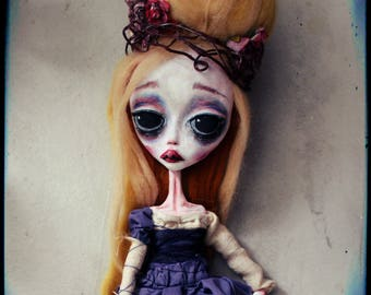 RESERVED -Isolde-2nd payment-Ooak Dark doll-sad doll-ooak Art doll- OOAK- sculpture- Art-dark doll