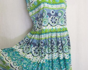 Boho Dress Cotton Sundress Hippie Dress Cotton Sleeveless Dress Indian