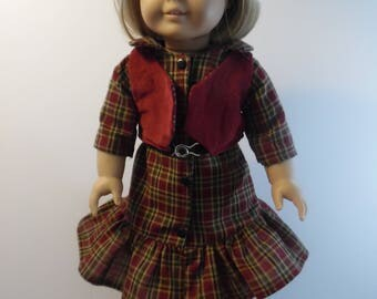 American Girl Dress with Belt and Vest