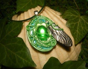 Absinthe Fairy Amulet - fantastic handmade Pendant - OOAK