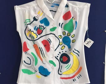 ELECTRIC BANANA Women's vintage sleeveless top