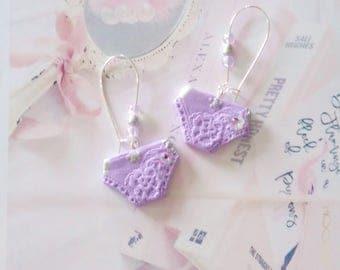 earrings sweet panties glamorous polymer clay