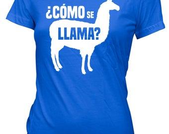 Como Se Llama? Women Ladies Funny T-shirt