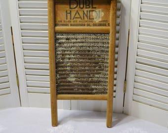 Vintage Dubl Handi Washboard Rustic Primitive Laundry Room Kitchen Bath Decor Panchosporch