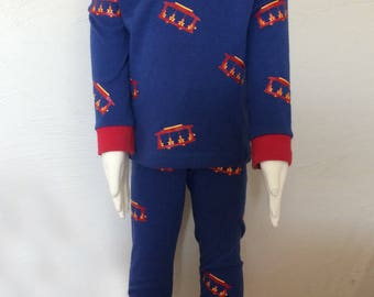 Trolley Knit Pajamas Inspired Lounge Wear Set