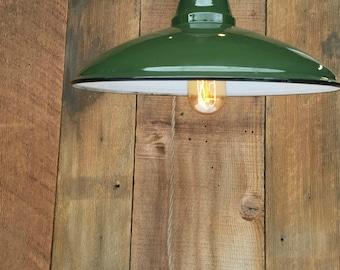 vintage enamel light green ceramic light barn light industrial lighting green enamel