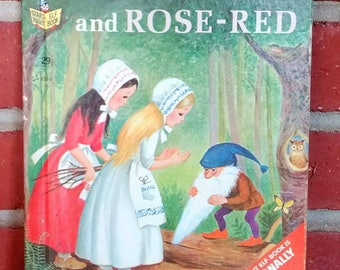 1967 Snow-White and Rose-Red Elf book Brothers Grimm story Marjorie Cooper Illustrator