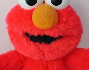 Tyco Alphabet ABC Elmo Plush Toy Stuffed Doll 1990s Sesame Street Sings Works