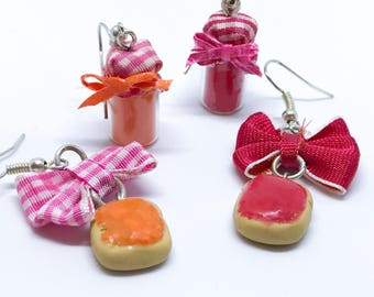 Bread and marmalade/earrings/gift idea/gift for you