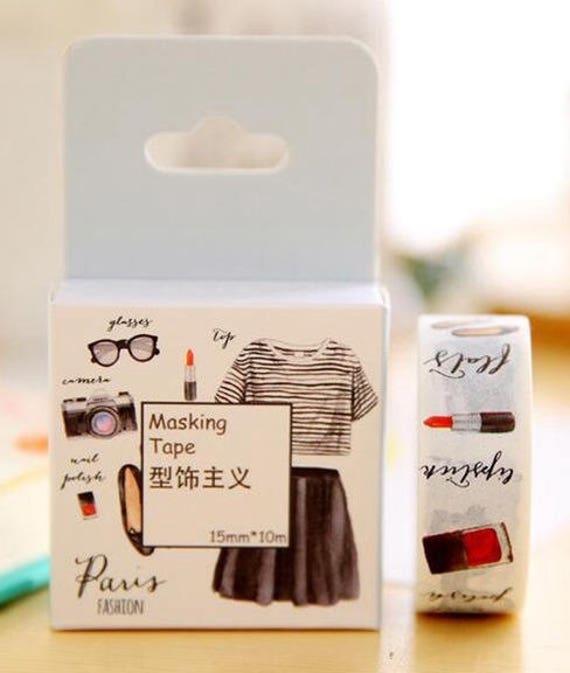 Paris france fashion washi masking decorative paper tape planner supplies - Boutique masking tape paris ...