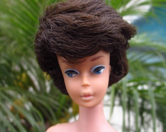 Mattel Vintage First Issue Bubble Cut Barbie 850 Brunette (Japan) in Original Swimsuit (Paypal Only)