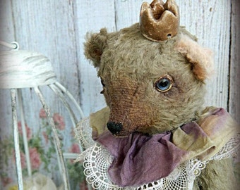 "OOAK Art retro  small Teddy Bear Prince ""Ivan"""
