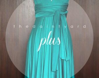 Plus Size Teal Green Bridesmaid Dress Convertible Dress Infinity Dress Multiway Dress Wrap Dress Wedding Dress Twist Dress Prom Dress
