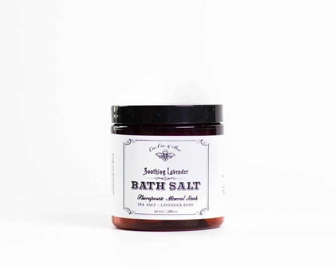 Soothing Lavender & Sea Salt - Bath Salt Soak