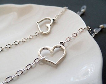 Silver Heart Eyeglasses Chain - Silver Eyeglasses Chain - Eyeglasses Holder - Eyeglasses Leash