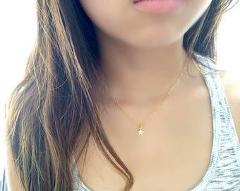 cubic zirconia star choker cz star necklace tiny star necklace cz jewelry star jewelry minimalist jewelry pave choker 14k gold filled CHOKER