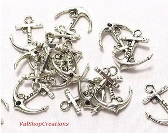 Silver anchor 3 X 22mm Tibetan