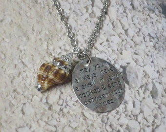 Shell inspirational necklace  CCS150