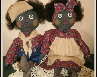 Primitive Ann and Andy Doll