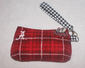 Alabama Roll Tide Mini Coraline Wristlet Houndstooth