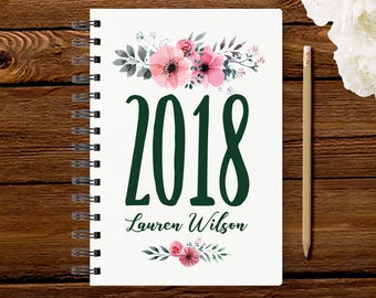 2018 Monthly Planner #21 - Hardcover - Coil Bound - Tabbed - Weekly Planner - Daily Planner