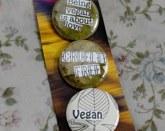 Vegan leaf buttons