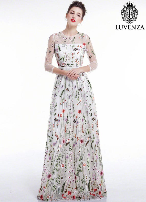 Tulle Floral Formal Dresses