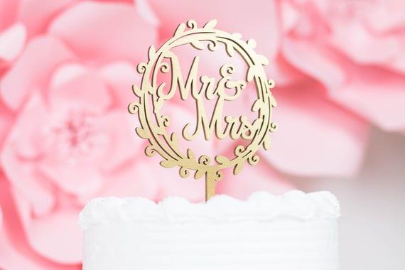 Mr And Mrs Custom Cake Topper Rose Gold